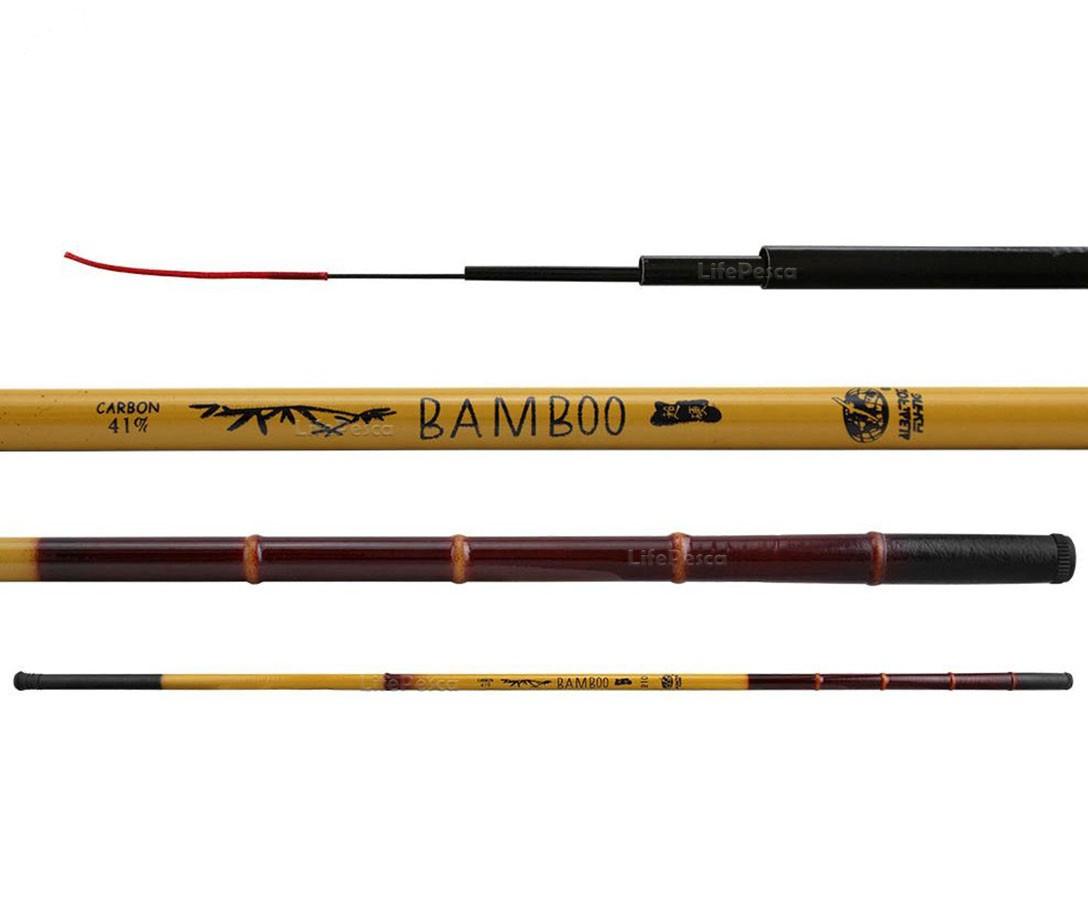 Vara Telescópica Albatroz Fishing Bamboo 41% Carbono - 1,80 Metros