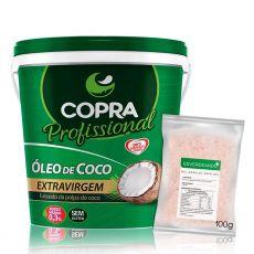 Oleo de Coco Extra Virgem 3,2L + Sal do Himalaia Fino 100g - Copra