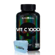 Vitamina C 1000 (100 Tabletes) Vit C- Black Skull