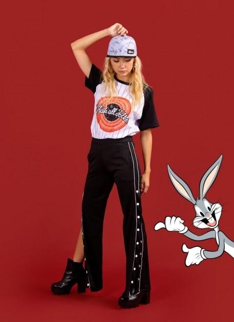 Camiseta Raglan Feminina Looney Tunes That's All Folks