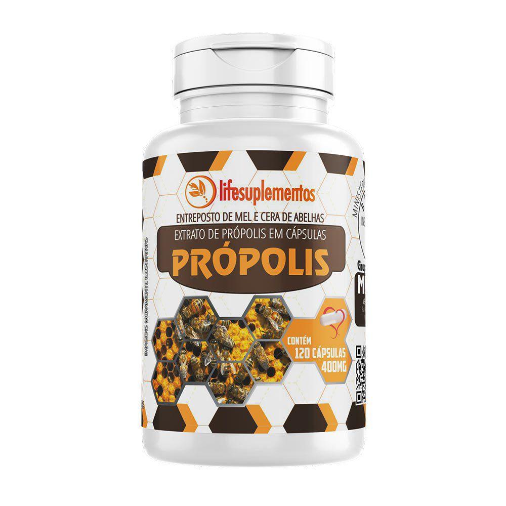 Extrato de Própolis - 120 Cáps. - 400 mg - Melcoprol