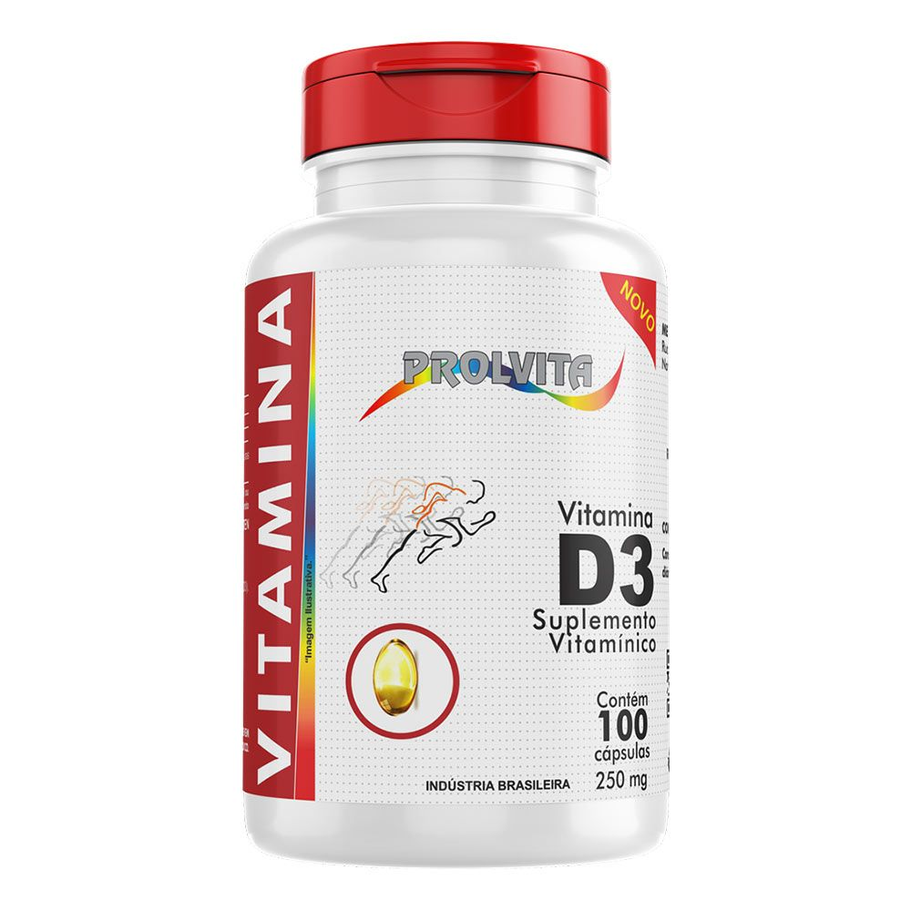 Vitamina D3 - 100 Cáps. - 250 mg - Melcoprol