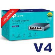 Switch Mesa 5 Portas Giga 10/100/1000mbps Tp-link Tl-sg105 V4