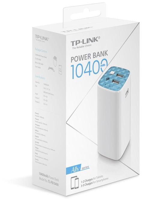 Novo Carregador Powerbank Portátil Tp-link Tl-pb10400 - 3.0