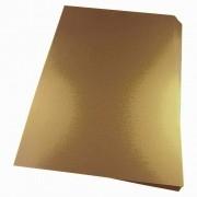 Capa para Encadernação A4 Dourado Couro Fundo PP 0,30 100un