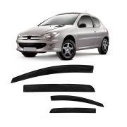 Calha Chuva Peugeot 206 E 207 4 Portas Defletor Fumê #2197