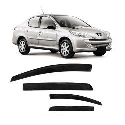 Calha de Chuva Peugeot 206 e 207 Sedan 00 01 02 03 04 05 06 07 08 09 10 11 12 13 14 4 portas Fumê