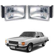 Farol  – Opala, Caravan e Chevrolet D20 - Modelo Original / Máscara Cromada – 80 81 82 83 84 85 86 87– Marca Inov9