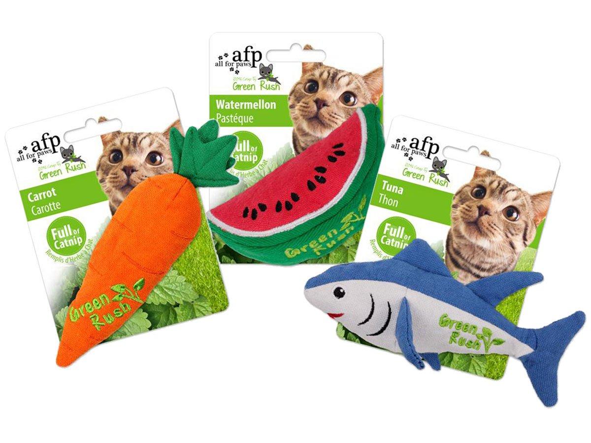 Brinquedo para Gato com Catnip Green Rush AFP