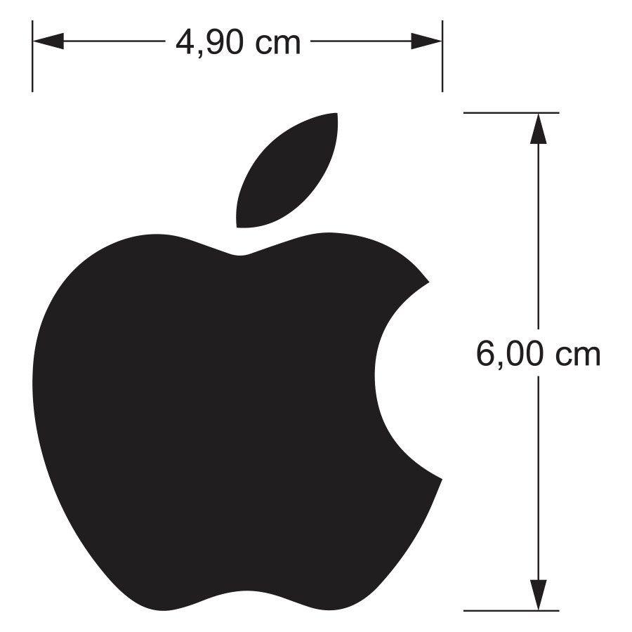 Adesivo Apple - Preto com ' apostrofe 's