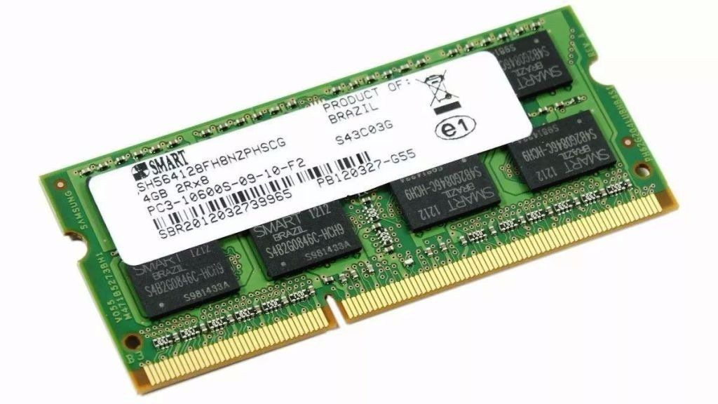 Memoria's Smart's 4gb Notebook Ddr3 Pc3 10600s 1333mhz - QUE NAO PERMITE EMBALAGEM