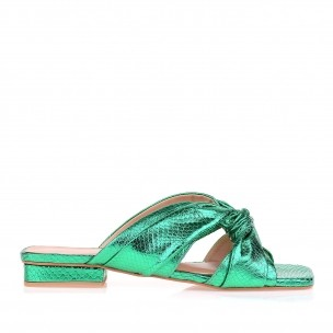 Flat Metal Serpente Verde