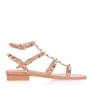 Flat Square Toe Triple Studs