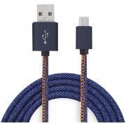 Cabo USB Micro USB Jeans 1M. 3.0 Turbo
