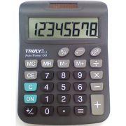 Calculadora de Mesa TRULLY 8DIG.VISOR Gr.prata