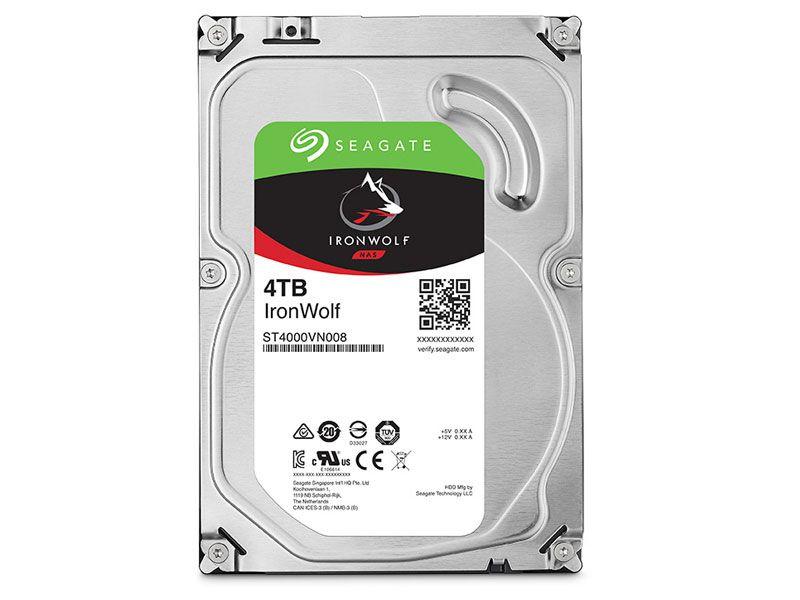 HDD 3,5 Sistemas de Backup NAS SATA Seagate 2DR166-500 ST4000VN008 4 Tera 5900RPM 64MB Cache  SATA 6GB/S