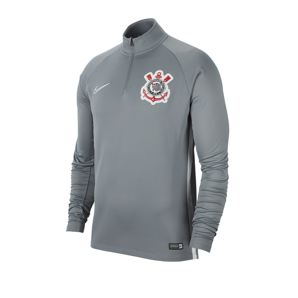 Camiseta Nike Corinthians Academy Masculino Cinza