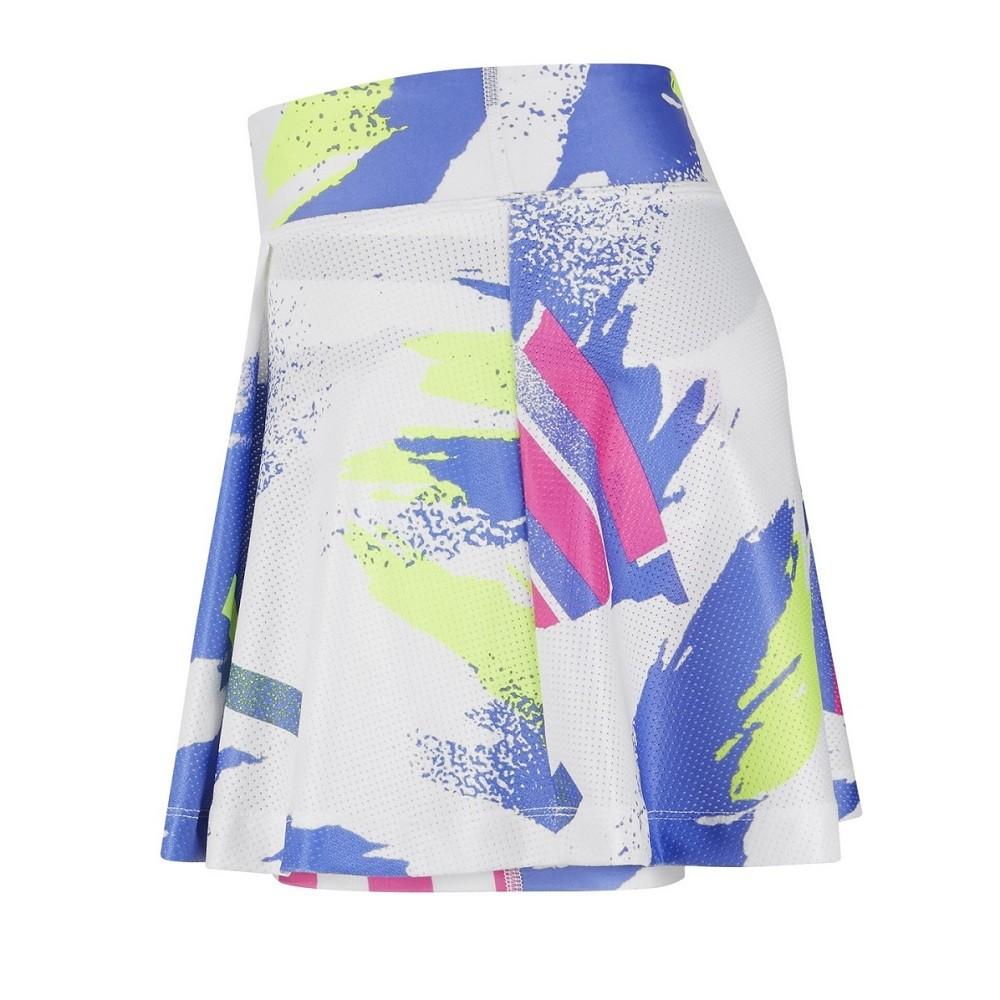 Saia Nike Court Slam Skirt NY Feminino Branco Roxo
