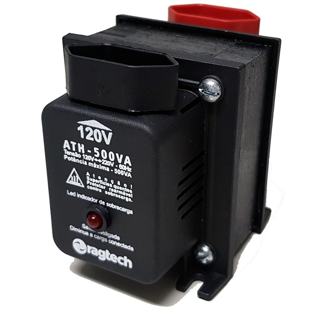 Autotransformador Ath 500Va/350W, Ragtech, ATH500 4471, Preto