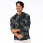 Blusão Masculino com Capuz Folhagens Verdes