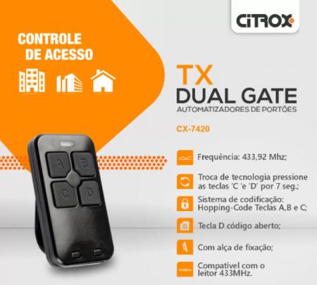 CONTROLE REMOTO CITROX PPA DUAL GATE CX-7420