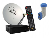KIT OI TV HD NOVO COM ANTENA 60CM LNB DUPLO