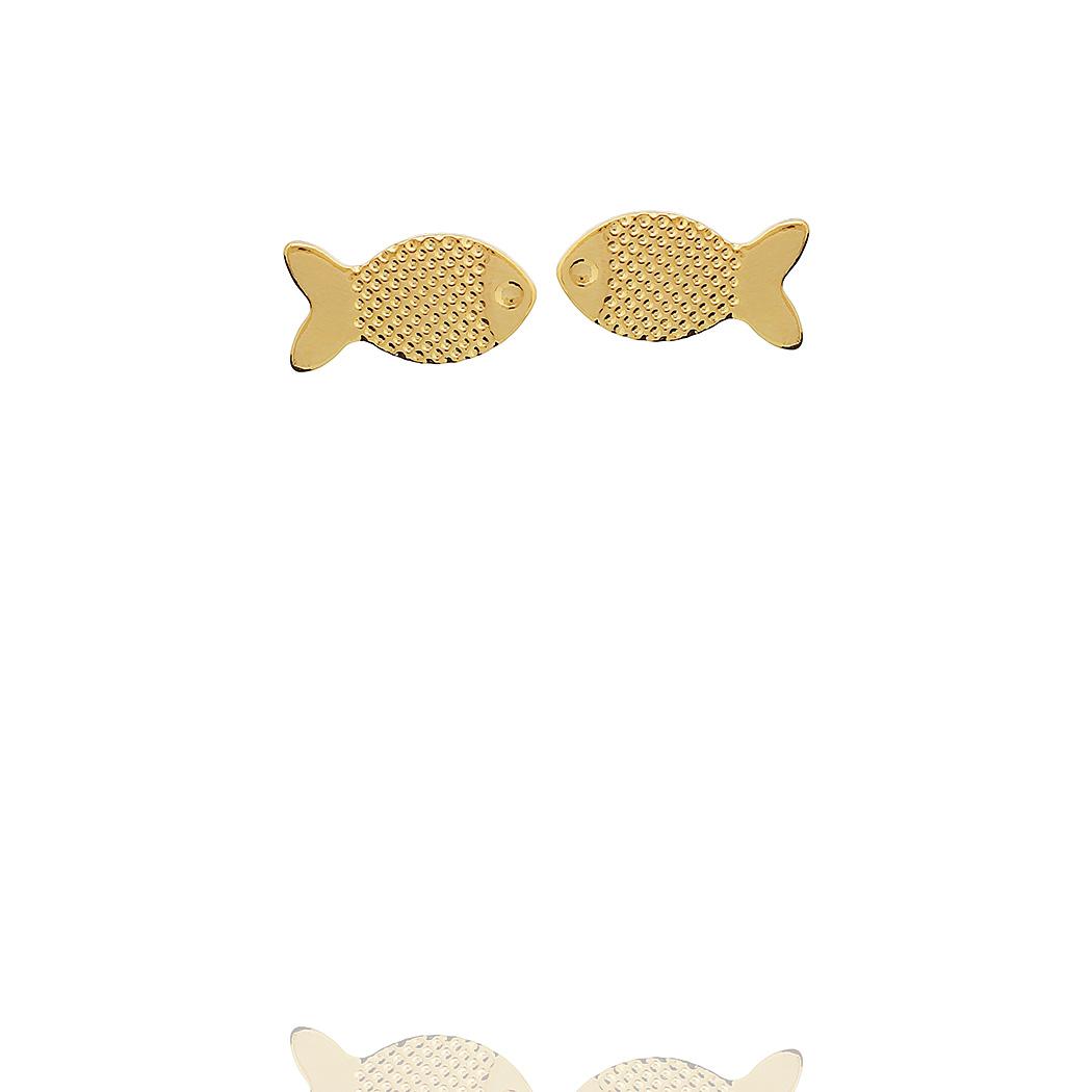 brinco peixe pequeno dourado