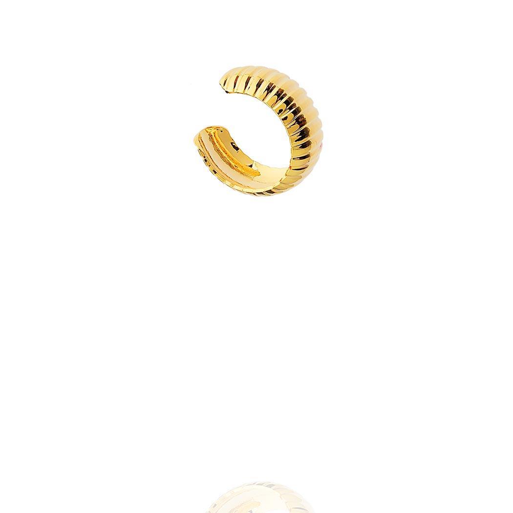 brinco piercing fake faixas dourado