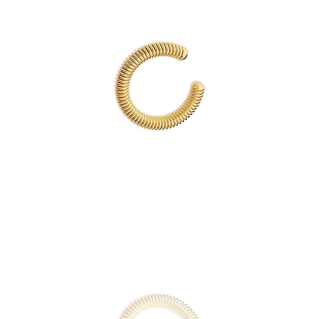 brinco piercing fake mola dourado