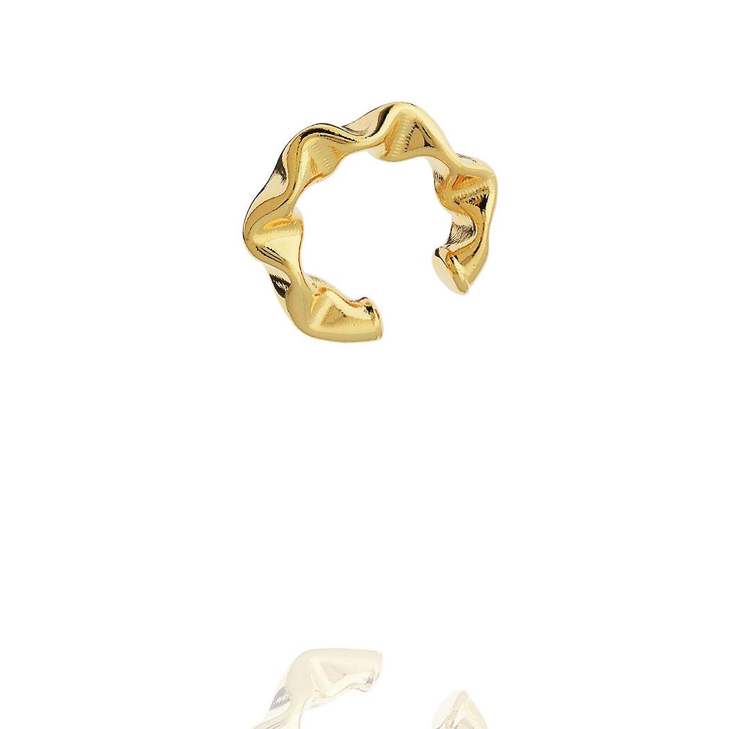 piercing juliette pequeno 22 mm amassado dourado