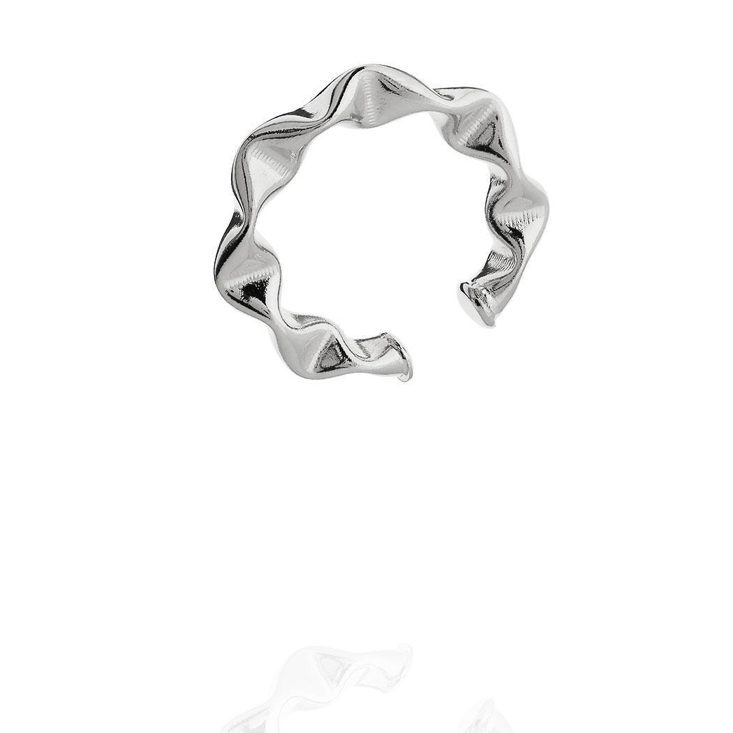 piercing juliette grande 28 mm amassado ródio claro