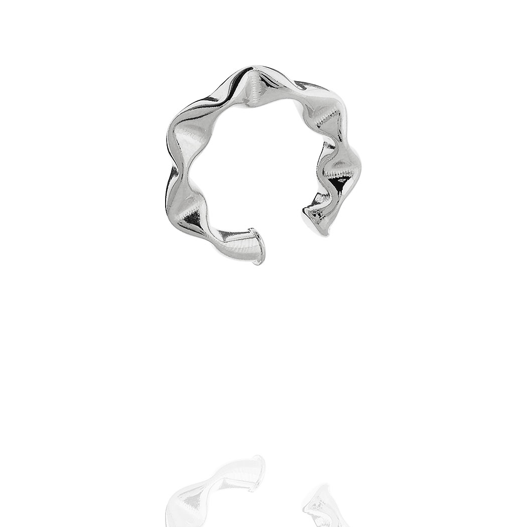 piercing juliette médio 24 mm amassado ródio claro