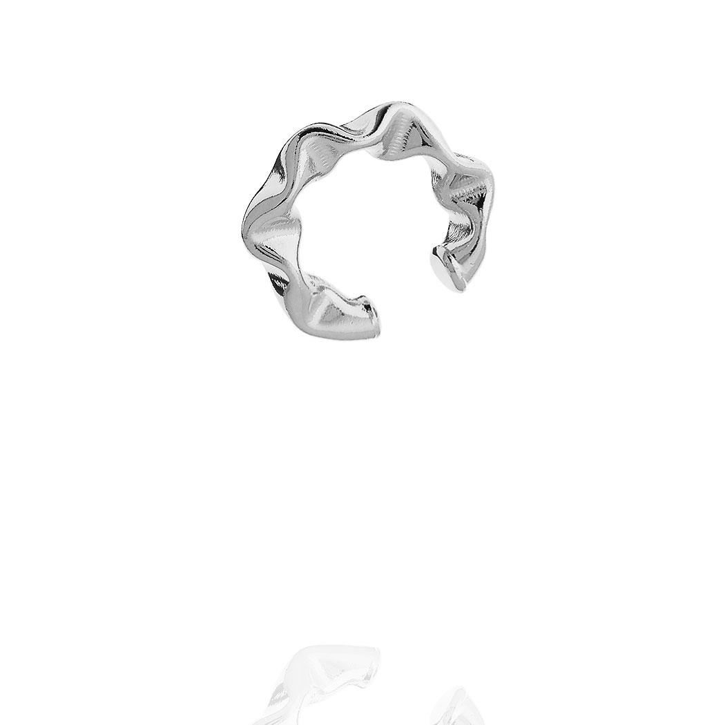 piercing juliette pequeno 22 mm amassado ródio claro
