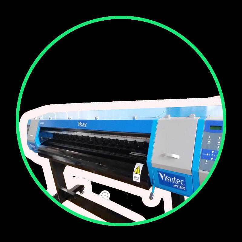 Plotter de Impressão Digital 1,80m Eco Solvente Cabeça DX7 - Multivisi / Visutec