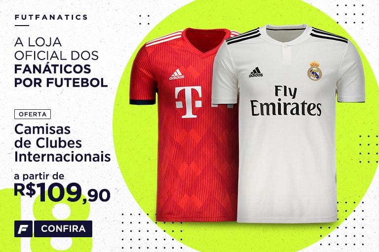 Camisas de Futebol dos Principais Clubes Internacionais - FutFanatics bbafe121001f6