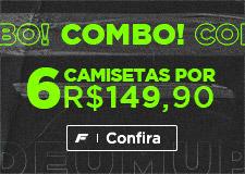 6 camisetas por R$149,90