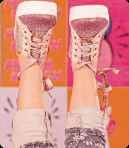 Modelo calçado