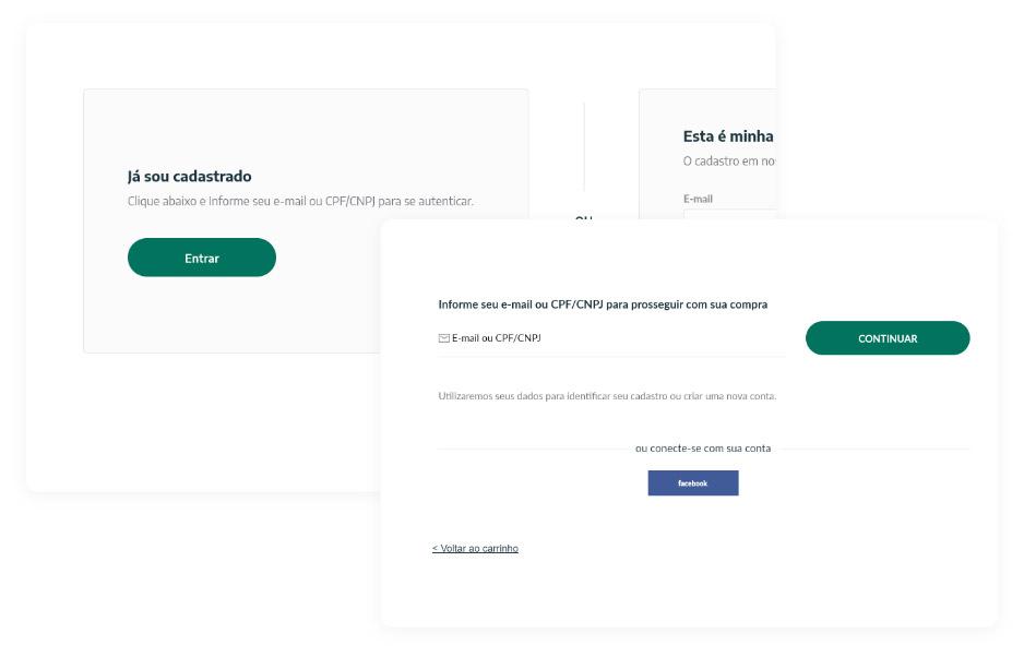 Se já possuí cadastro em nosso site, basta entrar com seu e-mail  e senha. Se você é um cliente novo será necessário preencher os seus dados e endereço de entrega para finalizar sua compra.