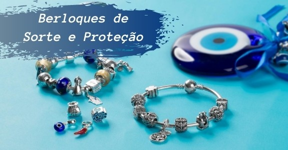 Berloques para pulseiras Pandora e Vivara Life com tema de sorte