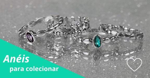 Anéis de Prata tipo Pandora e Vivara Life