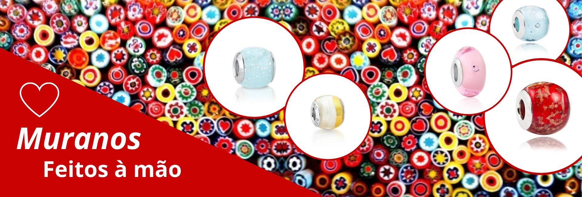 Muranos separadores para pulseira