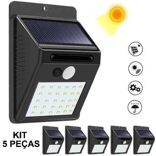 Luminária_Solar_Parede_30_Leds_c_Sensor_Movimento_Kit_5_Peças_CBRN08933_01