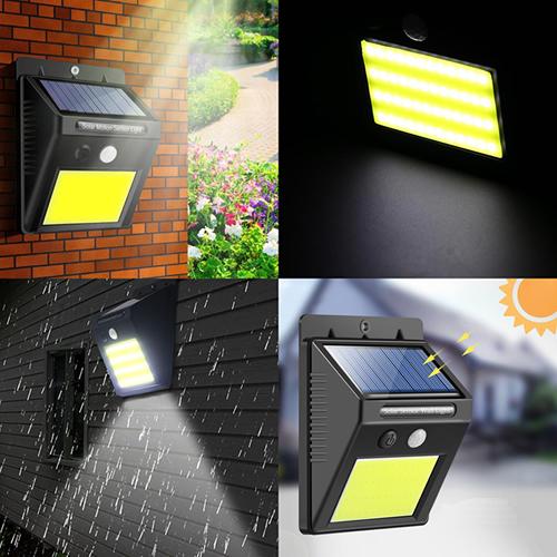 Luminária_Solar_Parede_48_LEDs_c/_Sensor_Movimento_Kit_5_Peças CBRN06885_01