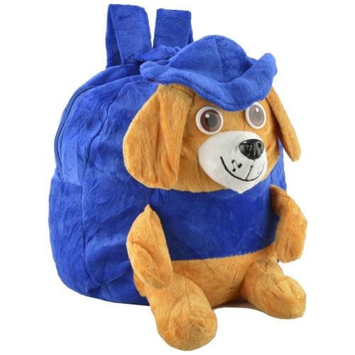Mochila_infantil_Pelucia_3D_cachorro_chapeu_azul_CBRN07417_01