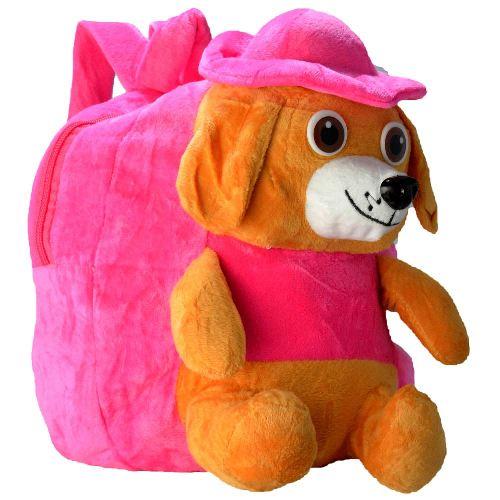 Mochila_infantil_Pelucia_3D_cachorro_chapéu_pink_CBRN07424_01
