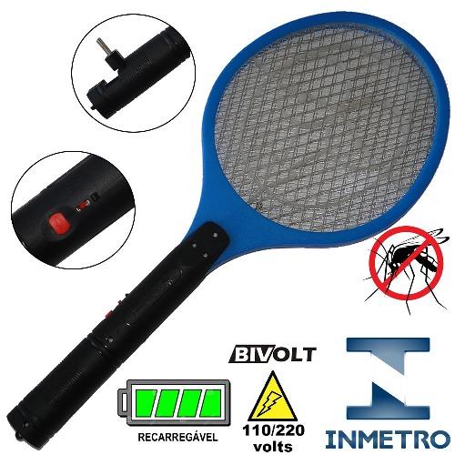 Raquete_elétrica_mata_mosquito_kit_3_peças_Azul_CBRN05581