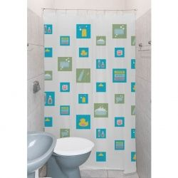Cortinas em PVC para banheiro/box