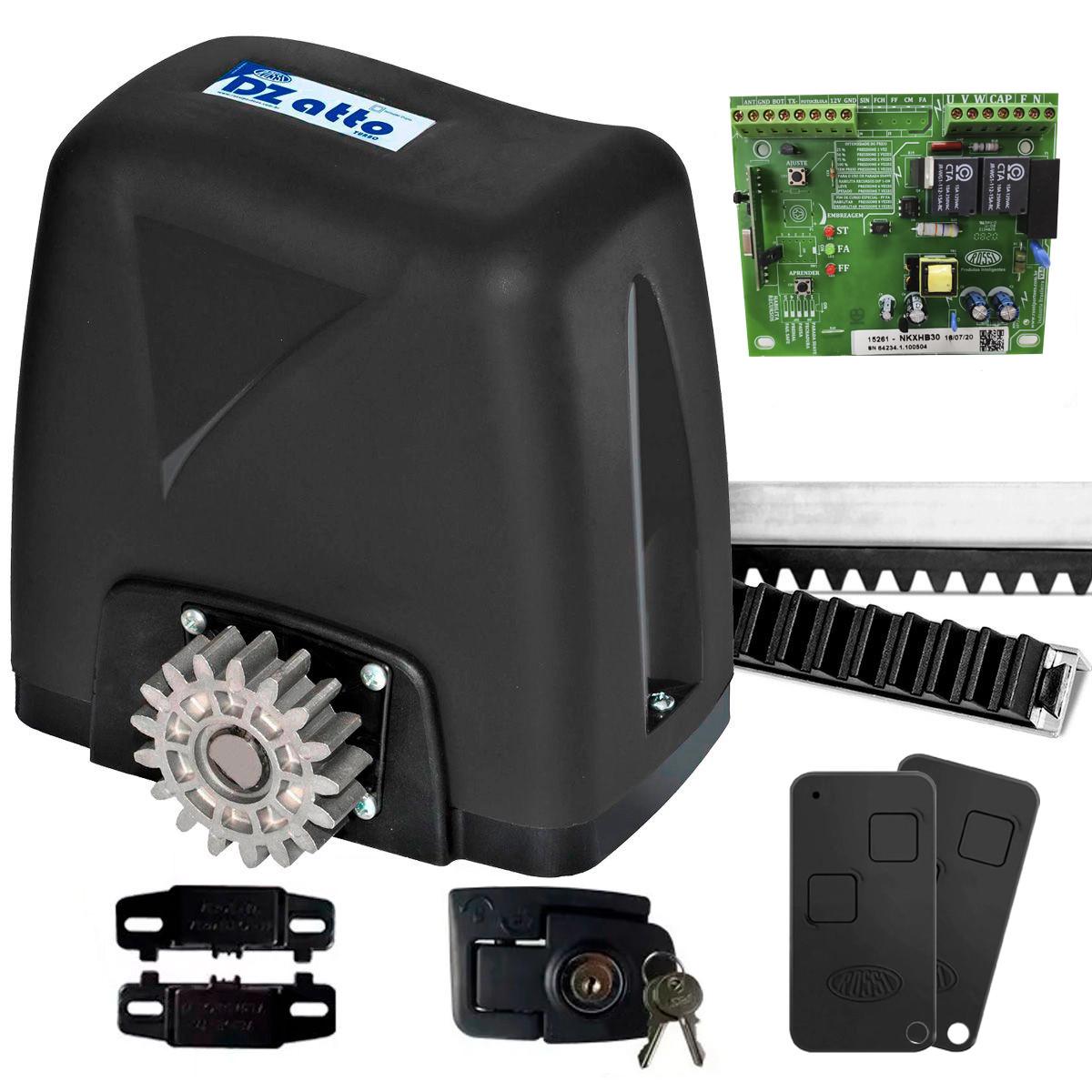 motor-de-portao/motor-de-portao-deslizante/kit-motor-completo/kit-motor-portao-rossi-dz-nano-turbo-600kg-14-deslizante-automatico-de-correr-eletronico-com-abertura-rapida-cremalheira