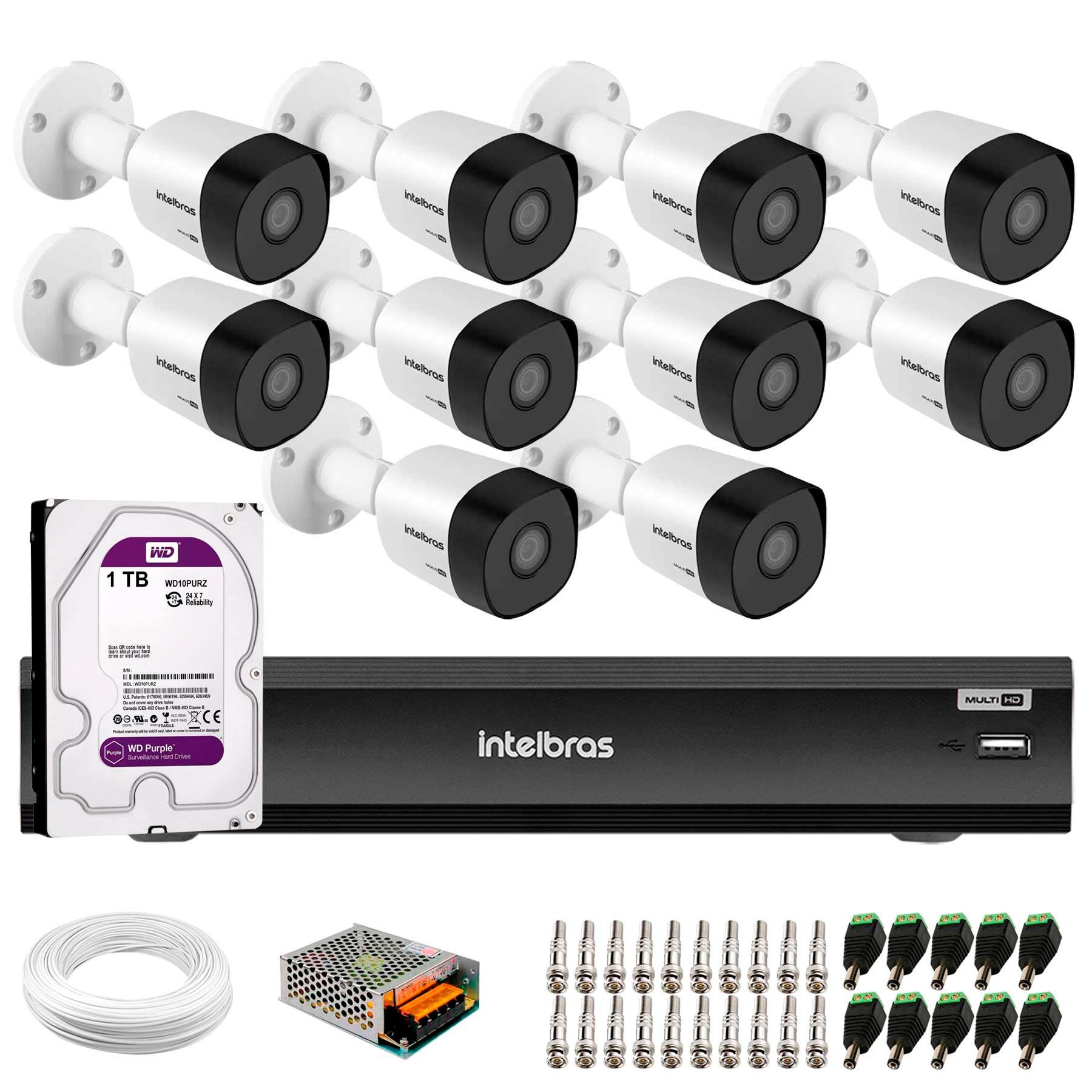 kit-10-cameras-de-seguranca-full-hd-1080p-vhd-3230-b-g5-dvr-intelbras-mhdx-3116-full-hd-de-16-canais-acessorios