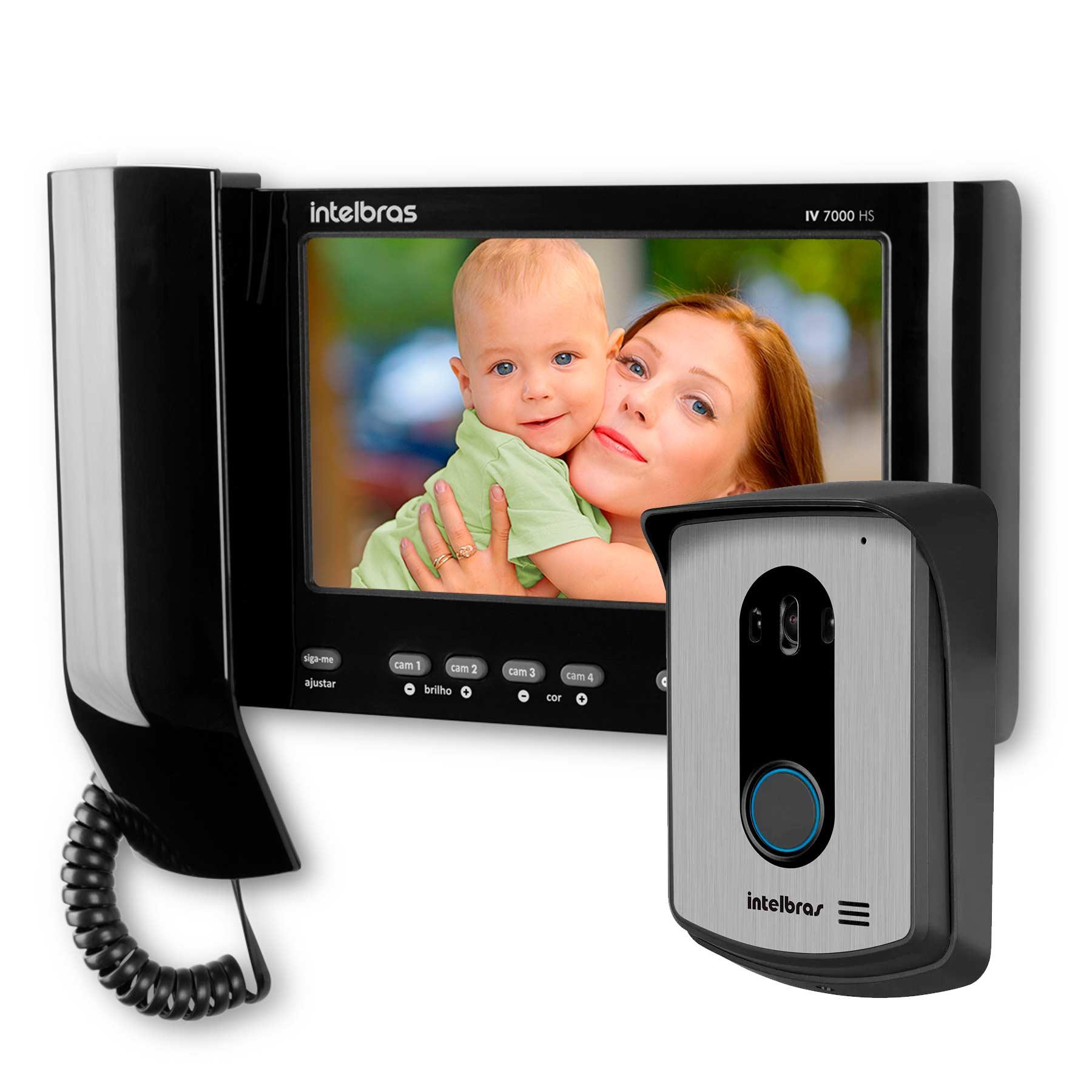 kit-video-porteiro-interfone-intelbras-iv-7010-hs-visualiza-ate-04-cameras-atende-por-celular-abre-2-portoes-tela-lcd-7-polegadas
